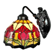"Amora Lighting Tulips Design Wall Sconce Lamp 9"" Tall x 8"" Wide (AM111WL08)"