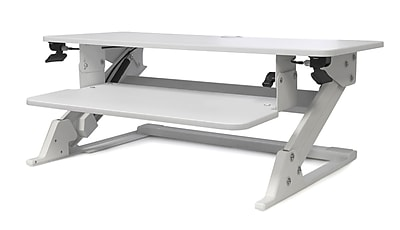 "LifeFlo Ergonomics Clarity Sit or Stand Workstation for Desktop 6.2 H x 35.4""W x 23.2""D, White (LFO-OL2914-W)"