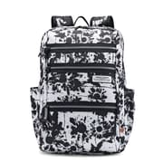 American Tourister Straight Shooter, Black, Floral, Polyester, Backpack, Large (108787-4684)