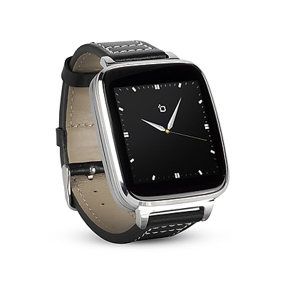 Bit Refurbished Smart Watch with Black Calfskin Leather Strap (S1CS-RB)