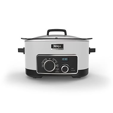 Ninja 6 QT Refurbished Multi Cooker 4 in 1 Slow Cooker in White (MC900QWH-RB)