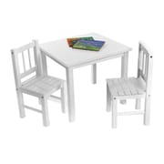 Lipper International® 3 Piece Square Child's Table and Chair Set, White (513W)