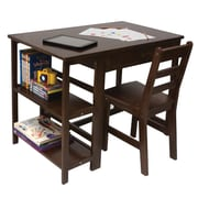 "Lipper International® 584WN 36""W x 22""D Child's Workstation and Chair, Walnut"
