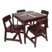 Lipper International® 5 Piece Square Child's Table and Chair Set, Cherry (585C)