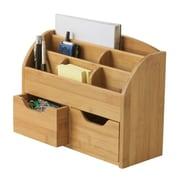 "Lipper International® Bamboo Space-Saving Desk Organizer, Brown, 5 3/8"" x 13"" x 10"" (809)"