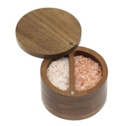 Lipper International® Acacia Divided Spice Box with Swivel Cover, Brown (1136L)