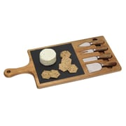 """Lipper International® 19-3/4""""W x 8-7/8""""D Serving Board with 4 Tools, Brown"""