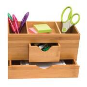 "Lipper International® Bamboo 3-Tier Desk Organizer, Brown, 5 3/4"" x 9 1/2"" x 4 5/8"" (1803)"