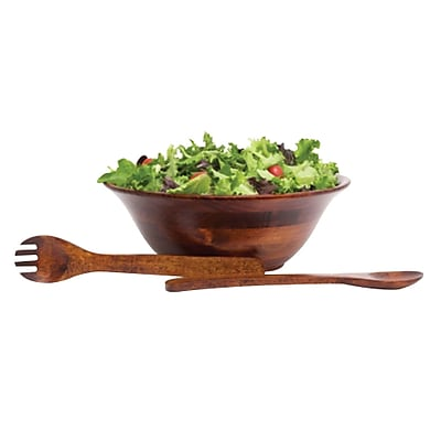 Lipper International® 3 iece Flared Bowl with Servers, Cherry (2643)