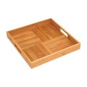 """Lipper International® 2""""H x 15""""W x 15""""D Bamboo Criss-Cross Serving Tray, Brown, (8866)"""