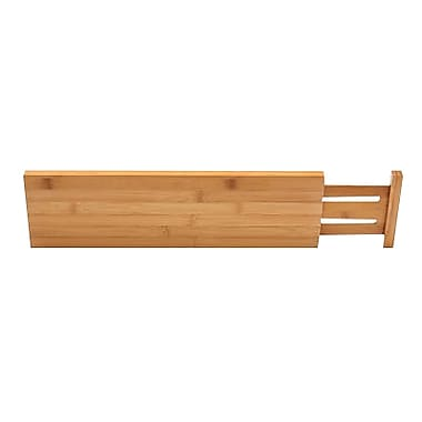 Lipper International® Bamboo Deep Kitchen Drawer Divider, Brown, 2/Pack (8897)