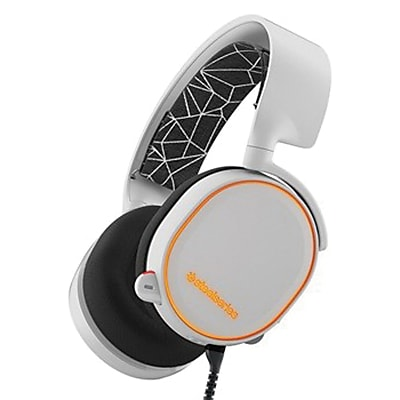 SteelSeries 61444 Arctis 5 Wired Over-The-Head Gaming Headset, White