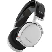 SteelSeries 61444 Arctis 7 Wireless Over-The-Head Gaming Headset, White