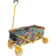 "Creative Outdoor™ 19.8"" All-Terrain Folding Wagon Cart, Steel/Fabric, Paisley (900249)"
