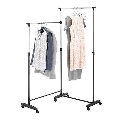 Whitmor Corner Garment Rack, Black/Chrome (60217623BB)