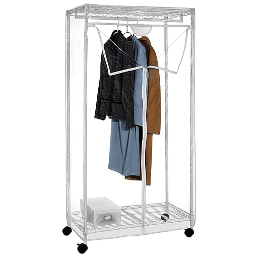 Whitmor Supreme Clothes Closet White Clear 60711947