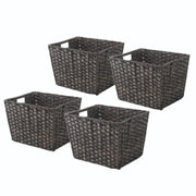 Whitmor Rattique 0.2 gal Organizer Tote Basket, Drift Wood, 4/Pack (60841054DW)