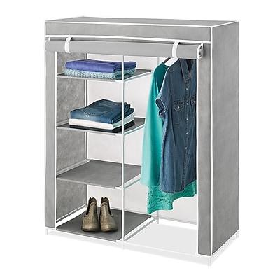 Whitmor Compact Clothes Closet, Gray/White (60917151)