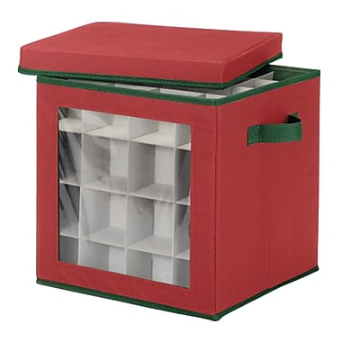 Whitmor Ornament Storage Box, Red (61295341)