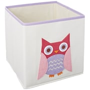 Whitmor Kid's Canvas Collapsible Cube Bin, Pink Owl (62414762PNKOWL)