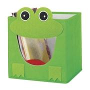 Whitmor Collapsible Cube Bin, Green Frog (62564925FROG)
