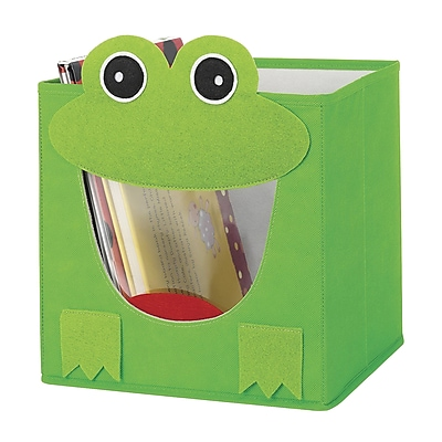 Whitmor Collapsible Cube Bin, Green Frog (62564925FROG)