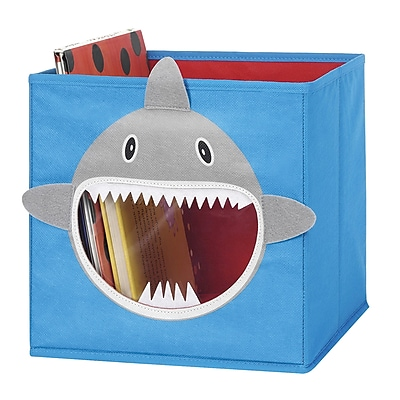 Whitmor Collapsible Cube Bin, Blue Shark (62564925SHARK)