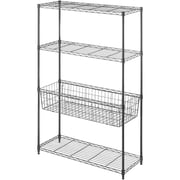 "Whitmor Supreme 4-Tier 54"" Storage Center Rack, Black (6310-7205)"