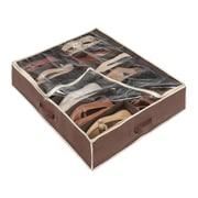 Whitmor 12 Pockets Underbed Shoe Organizer Bag, Java (63513151JAVA)