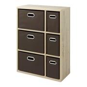"Whitmor 35"" Multipurpose Storage Organizer Cabinet, Weathered Gray (64227930WGBB)"