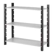 "Whitmor 3-Tier 35.83"" Utility Shelving, Espresso/Gray (6424-8017-BG-BB)"