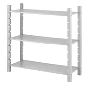 "Whitmor 3-Tier 35.83"" Utility Shelving, Gray (6424-8017-GRAY-BB)"