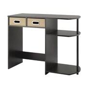 Whitmor 6426-7933 Computer Writing Desk with Shelves & Bins, Espresso