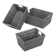 Whitmor Rattique Storage Basket, Gray, 3/Pack (65001959GREY)