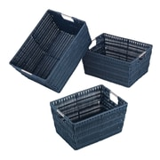 Whitmor Rattique Storage Basket, Navy, 3/Pack (65001959NAVY)
