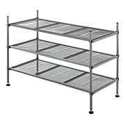 "Whitmor 3-Tier 17.1"" Mesh Storage Shelves, Gunmetal Gray (6740-4579)"