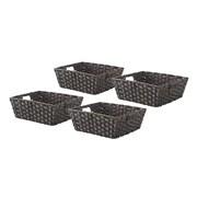 Whitmor Rattique 0.2 gal Organizer Tote Basket, Drift Wood, 4/Pack (608427114DW)