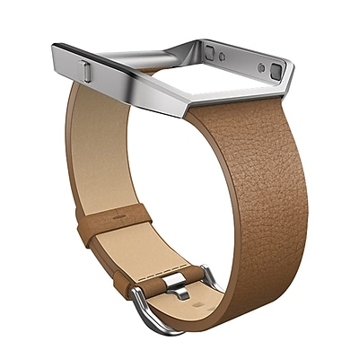 Fitbit Luxe Small Wrist Band for Blaze Smart Watch, Camel/Silver (FB159LBCMS)