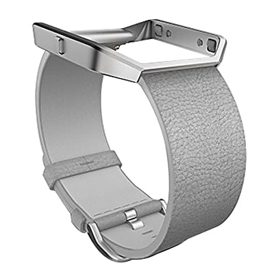 Fitbit Luxe Large Wrist Band for Blaze Smart Watch, Mist Gray/Silver (FB159LBMGL)