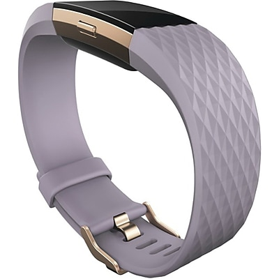 Fitbit Charge 2 Large Fitness Activity Tracker, Lavender Rose/Gold (FB407RGLVL)