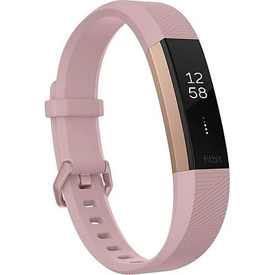 Fitbit Alta HR Large Fitness Activity Tracker, Soft Pink/Rose Gold (FB408RGPKL)