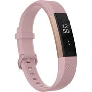 Fitbit Alta™ HR Large Fitness Activity Tracker, Soft Pink/Rose Gold (FB408RGPKL)