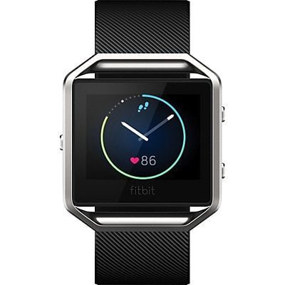 Fitbit Blaze Large Smart Fitness Watch, Black/Silver (FB502SBKL)