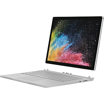 Microsoft Surface Book 2 15u0022 Core i7 16GB RAM  256GB SSD Silver  -  8th Gen i7-8650U Quad-core - Touchscreen -  NVIDIA GeForce GTX 1060 6GB - 3240 x 2160 PixelSense Display - 17 hr battery life