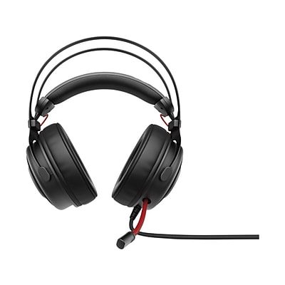 HP® 1KF76AA#ABL Omen 800 Wired Over-The-Head Gaming Headset, Black/Red