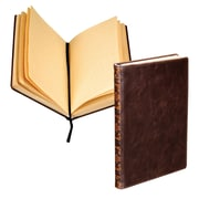 "Samsill® Vintage Hardbound Notebook Journal, 8.25""H x 5.25""W, Dark Brown, 2/Pack (U22350)"