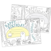 Barker Creek Color Me! Happy Birthday Awards & Bookmarks Set, 30/Pack (BC427)