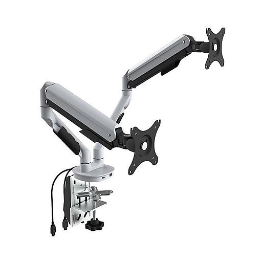 Loctek Q7d Single Monitor Arm White Staples