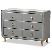 "Baxton Studio Jonesy 34"" High 6-Drawer Dresser, Gray (2633-7290-STPL)"