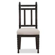 Baxton Studio Heather Fabric Dining Chair, Black (2633-7393-STPL)